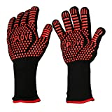BBQ Grill Gloves [1472℉ Newest] EN407/EN420 CE Heat Resistant - Oven Silicone Glove
