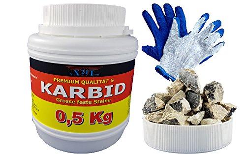 bri\'X24T\'you® Karbid 0.500KG+HS*DEUTSCHE Premium QUALITÄT Firma BRIN\'X Große Feste Steine(0.500KG)
