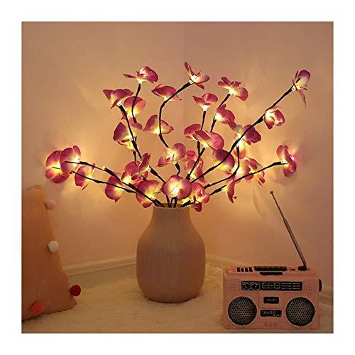 Goplnma Luces de Navidad 73cm de la simulación LED Luces de orquídeas Branch 20 Bombillas florero día de Fiesta de la Fiesta de jardín Luz de Relleno Floral de Escritorio Luces Decoración