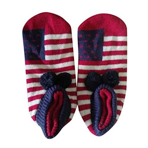 Dasongff Damen & Herren Weihnachten Socken Winter Sockes Rutschfeste Griff Boden Socken Ware Weihnachtssocken