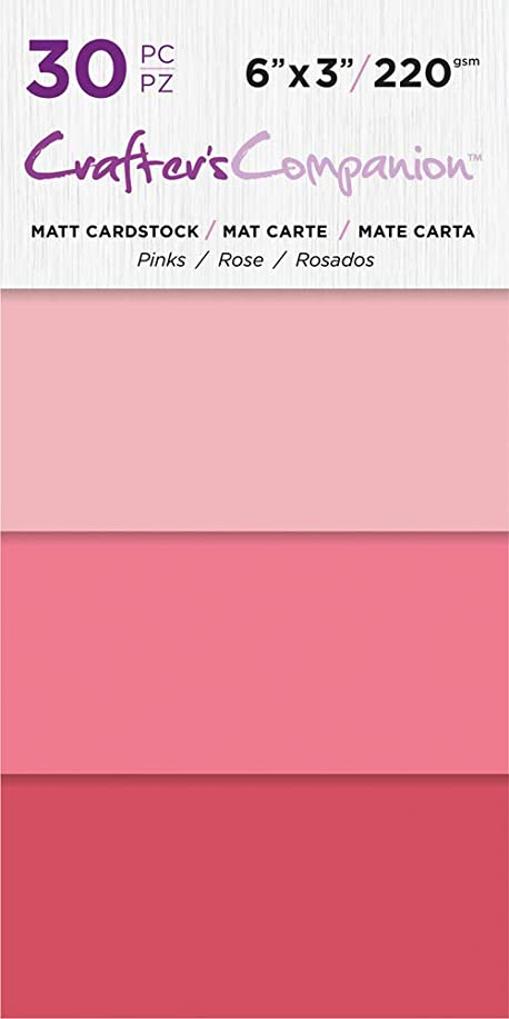 Crafter's Companion CC-PAD-MC-Pink 6x3 Luxury Pack (30 Sheets) Cardstock