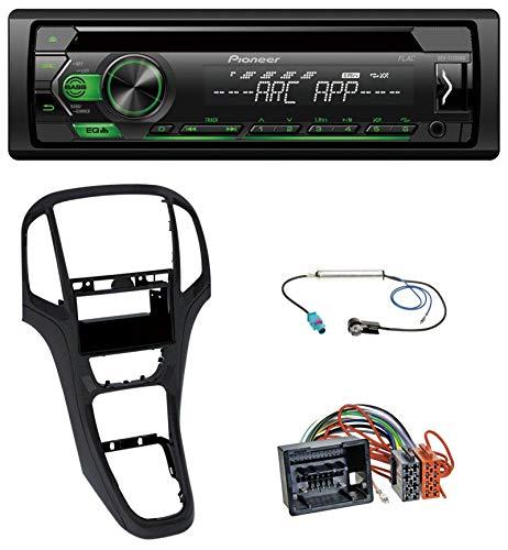 caraudio24 Pioneer DEH-S120UBG USB CD MP3 1DIN AUX Autoradio für Opel Astra J ab 2009 Perl schwarz