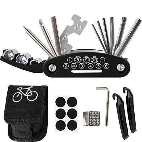 GOZAR Bicicleta Goma Neumático Pinchazos Reparación Parches Kit Bicicleta MTB Ciclismo Multifunción Parche Herramienta Kit-# 4