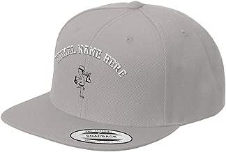 Custom Snapback Baseball Hat Stork Outline Embroidery Animal Name Acrylic Cap