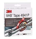 3M VHB Cinta Adhesiva 4941F - óptima adhesión al policarbonato, ABS, aluminio, acero inoxidable, acero galvanizado - 19 mm X 3 m, gris, espesor 1.1mm (1 unidad)