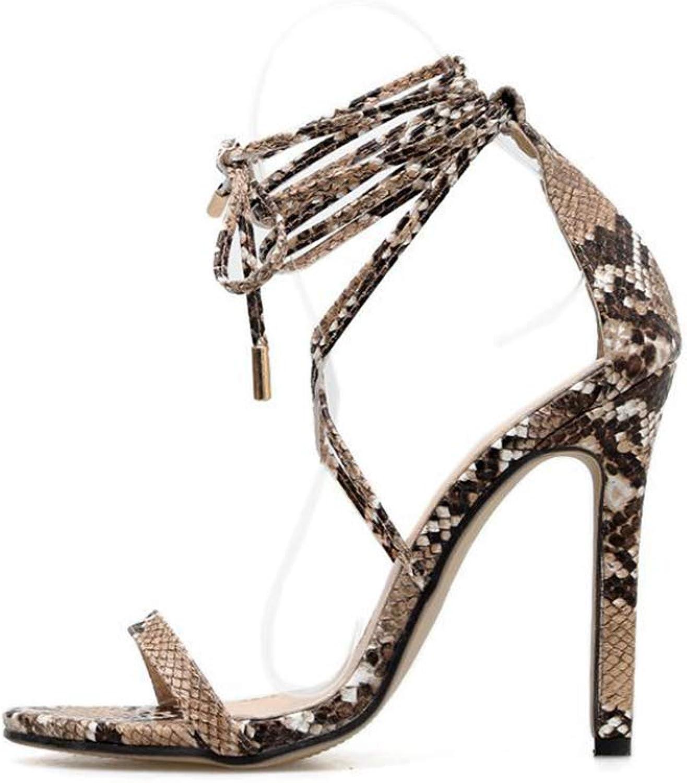 YAN Damen-Stiletto-Schuhe 2019 Ultra High Heels PU Peep Toe Cross Strap Sandals Damen Schuhe Hochzeit Party & Abend,A,38