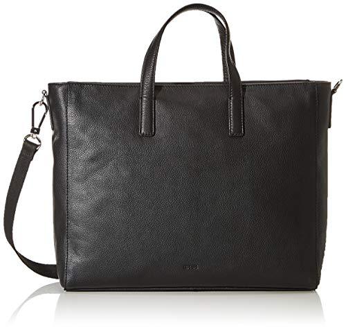 BREE Damen Cary 14, Black, Business Bag L Business Tasche Schwarz (Black)