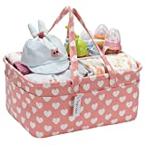 Hinwo Baby Windel Caddy 3-Compartment Infant Nursery Tote Aufbewahrungsbehälter Tragbare