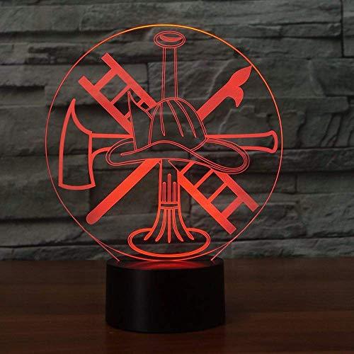 HPBN8 Ltd Ilusión Optica 3D Extintor de incendios Luz Nocturna ilusión Optica Lámpara 7 Colores Cambiantes Touch Switch USB Power Juguetes Decoración Navidad Cumpleaños Regalo