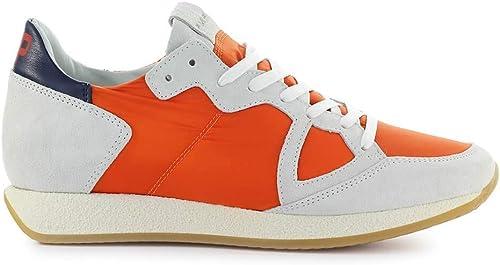 Philippe Model Chaussures Homme paniers Monaco Vintage Orange gris SS 2019
