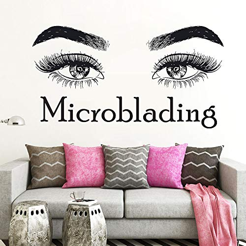 wandaufkleber Wimpern Wimpern Make-up Zitat Microblading Beauty Salon Dekor Kosmetik Mascaras Brauen