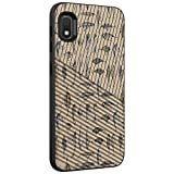 TurtleArmor | Compatible with Samsung Galaxy A10e Case | Galaxy A20e Case | Engraved Grooves Slim Armor Dual Layer Hybrid Case Girl Designs - Fishing Hooks