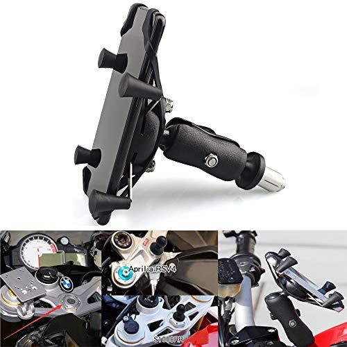 Motorrad Handyhalterung GPS-Halterung für 4 '' - 7 '' Smartphone Passt auf alle Motorräder mit Löchern Für Yamaha R1 R6 Honda F5 CBR650F VFR1200