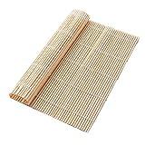 3 Piezas Esterilla De Bamboo para Sushi, Juego De Herramientas De Sushi, Cortina De Bambú Y Arroz De Algas, Cortina De Rollo De Sushi, Blanco, Cian, 24 * 24 Cm, 27 * 27 Cm, 30 * 30 Cm
