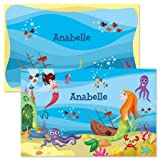 Personalized Kids' Mermaid Placemat - 11 by 17 Inch Laminated Placemat