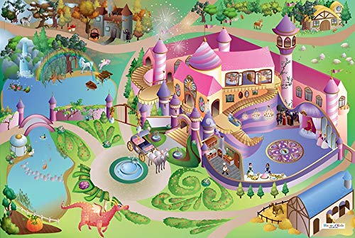 House Of Kids Tapis de Jeu Princesses imperméable 140 x 200 cm