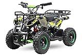 """Elektro Kinderquad Torino Basic 1000W 48V 6"""" Miniquad Quad ATV Bike 1161013 (Gelb)"""