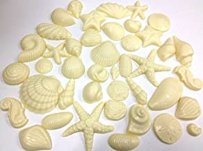 White Chocolate Seashells, Decoration Package for Special Occasion Cakes - Cooler Pack IS INCLUDED in Price