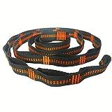 Gshy - Cinturón colgante para hamaca ajustable con cuerda para hamaca con correas de poliéster 100 % no extensibles, 280 cm