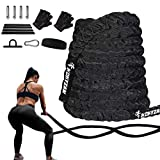 Hokyzam 30FT Battle Rope Workout Equipment Exercise Rope Training Rope Heavy Weighted Rope 2 Inch...