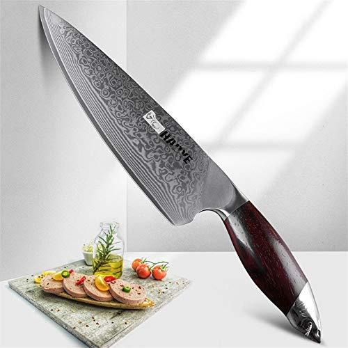 VG10 cuchillo de acero japonés Aus10 de cocina del cuchillo de 8 pulgadas de Damasco chef de cocina profesional cuchillos...