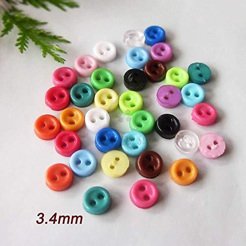 Nieuw!3 mm kleine knoppen 144 stks gemengd / 1 kleur dunne rand mini knoppen voor het maken van 17 kleuren knutselen poppenkleding naaibenodigdheden, 10 groen