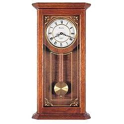 Bulova C3375 Cirrus Wall Clock, 22, Oak
