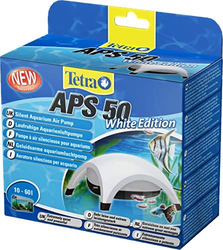 Tetra APS 50 Bomba de acuario 10 - 60 L, silenciosa y con aireadores potentes, blanca