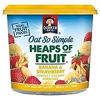 フルーツポットバナナ&ストロベリー58グラムのクエーカーオーツ麦とても簡単ヒープ - Quaker Oat So Simple Heaps of Fruit Pot Banana & Strawberry 58g [並行輸入品]