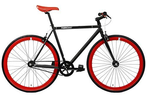 FabricBike- Vélo Fixie Noir, Fixed Gear, Single Speed, Cadre Hi-Ten Acier, 10Kg (M-53, Matte Black...