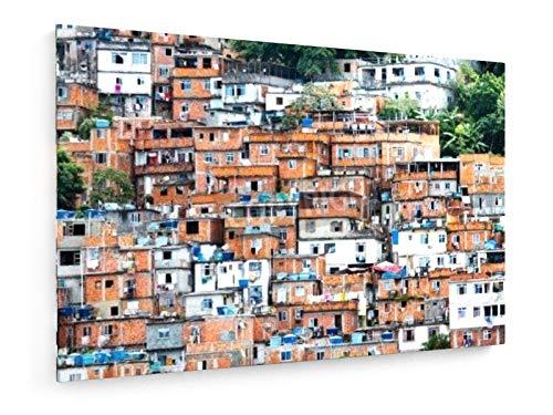 Tero Hakala - Favela, überfüllten brasilianischen Slum in Rio de Janeiro - 120x80 cm - Leinwandbild auf Keilrahmen - Wand-Bild - Kunst, Gemälde, Foto, Bild auf Leinwand - Städte & Reise
