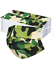 50 Pack Disposable Face_Mask for Kids with Designs Cute Printed Paper Disposable_Mask Full Face_Covers Protections for Boys Girls