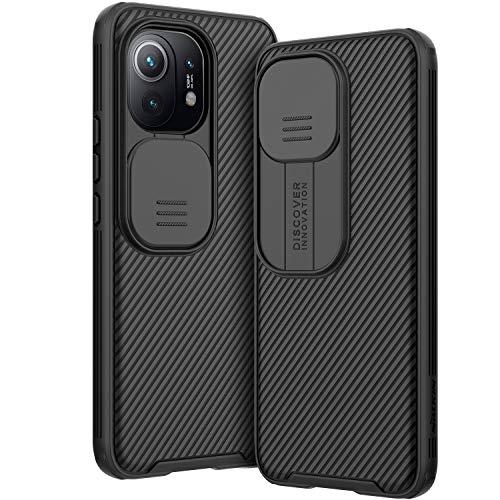 AROYI Funda Compatible con Xiaomi Mi 11, Tapa Deslizante para la cámara Funda para Xiaomi Mi 11 5G (2021) 6,81 Pulgadas - Negro