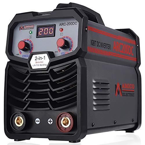 Amico ARC-200, 200 Amp Pro. Stick Arc DC Inverter Welder, 80% Duty Cycle, 100~250V...