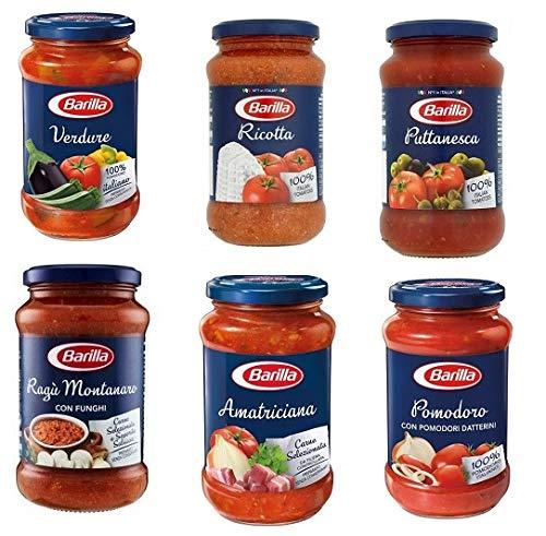 Testpaket Barilla pastasauce tomatensauce Fertige Saucen aus italien 6 x 400g