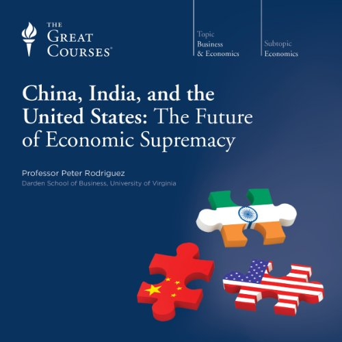 China, India, and the United States: The Future of Economic Supremacy audiobook cover art