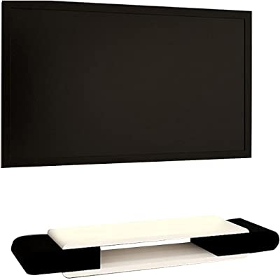Wall-Mounted TV Stand Set-top Box, Living Room TV Cabinet, Bright Paint Surface, Easy to Assemble (Color : A, Size : 110CM)