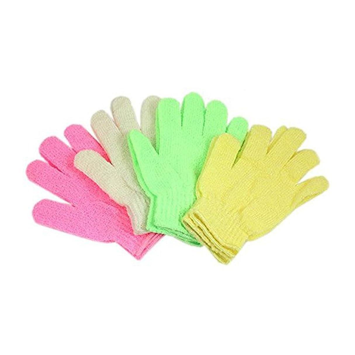 許可する保存する寝室ROSENICE 垢すり手袋ボディ シャワー(ランダム カラー)