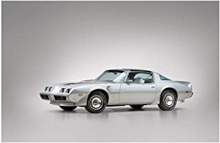 Pontiac Firebird Trans Am T/A 6.6 L78 10th Anniversary (1979) Car Art Poster Print on 10 Mil Archival Satin Paper Silver Front Side Static View (24