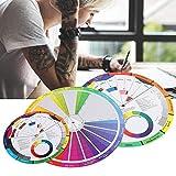 Guía de Aprendizaje de Mezcla de Color, 3 Piezas Rueda de Color de Tatuaje Tablero de Mezcla Colores Colores Circulares para Guía Cromática Accesorios de Tatuaje Maquillaje Rueda de Tinta