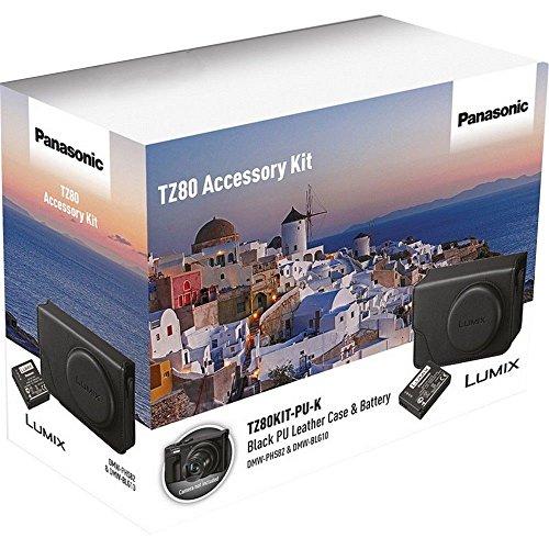 test Lumix DMC tz80 Kamera Panasonic Kunstledertasche und Akku-Schwarz Deutschland