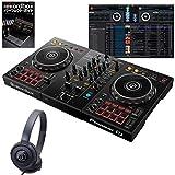 Pioneer DJ パイオニアディージェイ DDJ-400 ATH-S100 初心者ヘッドホン + rekordboxパーフェクトガイドセット