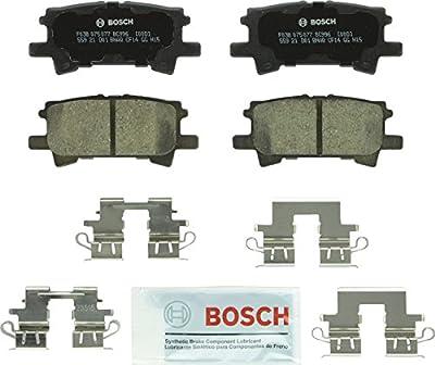 Bosch BC996 QuietCast Premium Ceramic Disc Brake Pad Set For: Lexus RX330, RX350, RX400h; Toyota Highlander, Rear