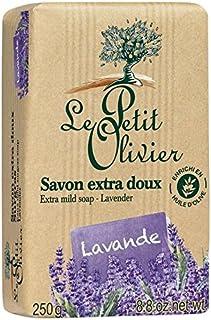 Le Petit Olivier Extra Mild Lavender Soap 250g (Pack of 6) - ル?プティ?オリヴィエ余分な穏やかなラベンダー石鹸250グラム x6 [並行輸入品]