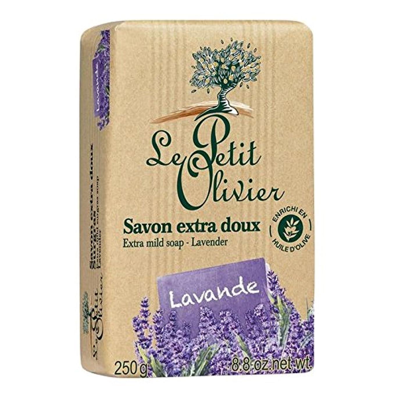 最初は小屋賠償ル?プティ?オリヴィエ余分な穏やかなラベンダー石鹸250グラム x4 - Le Petit Olivier Extra Mild Lavender Soap 250g (Pack of 4) [並行輸入品]