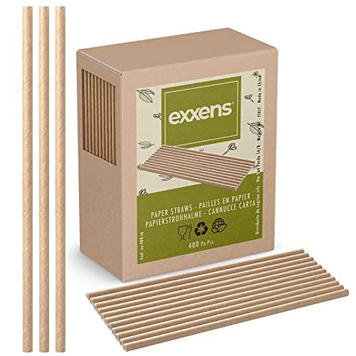 400 Cannucce Carta Biodegradabili, no plastica, per bambini, cocktail, lunghe 21cm