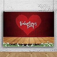Qinunipoto 写真 撮影 背景布 撮影紙 バレンタインデー 撮影用 背景 布 撮影用背景 バレンタインデー 赤いカーテン 恋人の写真の背景 撮影用道具 撮影背景 写真撮影用 ポリエステル 洗濯可 2.5m x 1.5m