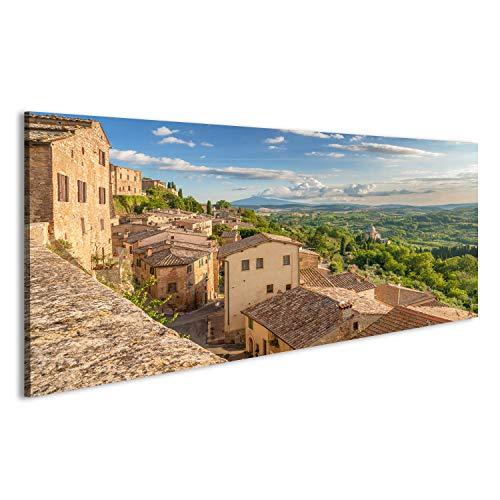 bilderfelix® Bild auf Leinwand Landschaft der Toskana gesehen von den Wänden von Montepulciano, Italien Wandbild, Poster, Leinwandbild GUG