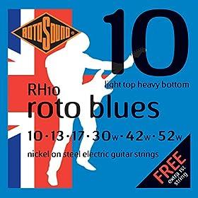 Juego de cuerdas para guitarra eléctrica Níquel Light top/ Heavy bollón Juego Calibre: 10-13-17-30-42-52 Incluye dos primeras de 10