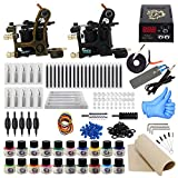 ITATOO Complete Tattoo Kit for Beginners Tattoo Power Supply Kit 20 Tattoo Inks 50 Tattoo Needles 2 Pro Tattoo...